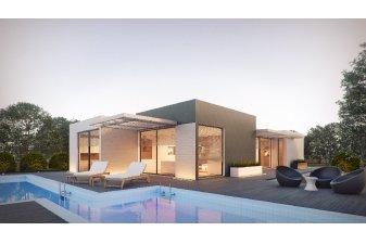 La maison de plain-pied permet de profiter d'un accès au jardin et vers les extérieurs depuis tous les espaces de vie.