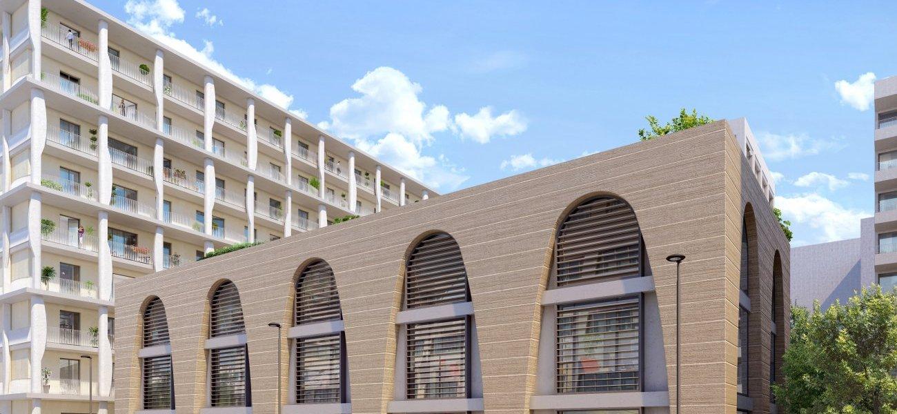 <b>Prix du bâtiment bas carbone : Ydeal à Lyon par Ogic.</b> Ce projet immobilier mixte du 2e arrondissement de Lyon avait déjà remporté la Pyramide d'Argent au niveau régional en 2019. Il se voit attribuer ce prix national du bâtiment bas carbone où la concurrence était rude puisque 12 candidats étaient en compétition, deux fois plus que l'année précédente. Dans le nouveau quartier de Lyon Confluence, sur 12 000 m², le projet comporte cinq bâtiments, avec la particularité d'un bâtiment en terre crue locale, récupérée à moins de 30 km du chantier. Il s'agit aussi du premier projet neuf en autoconsommation collective, à une telle échelle.