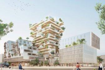 Pyramide d'Or : Hypérion, tour en bois de logements neufs de Bordeaux, l'emporte