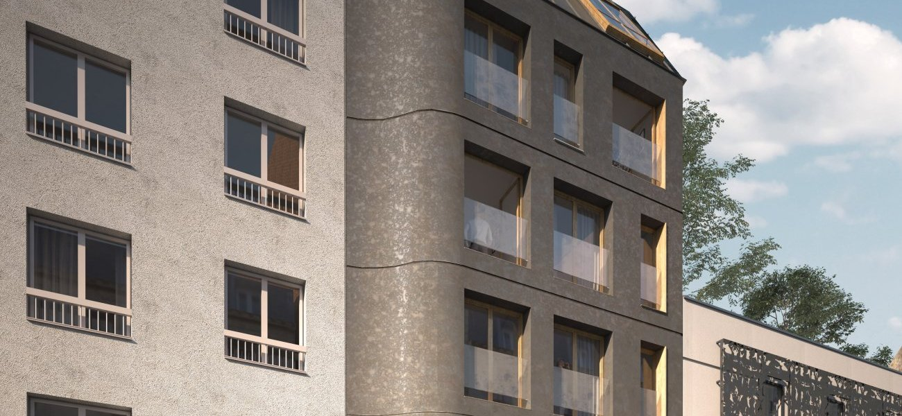 <b>Prix des premières réalisations : 59 Prairies, à Paris par Promege.</b> Cette Pyramide récompense un promoteur ayant moins de 7 ans d'existence ou moins de 3 opérations à son actif. En 2019, ce prix des premières réalisations a été remis à Promège, jeune entreprise de promotion immobilière créée il y a deux années, grâce en partie au crowdfunding immobilier. Les deux associés réalisent des opérations à taille humaine en cœur de ville, uniquement en région parisienne. 59 Prairies offre un vrai pari architectural.