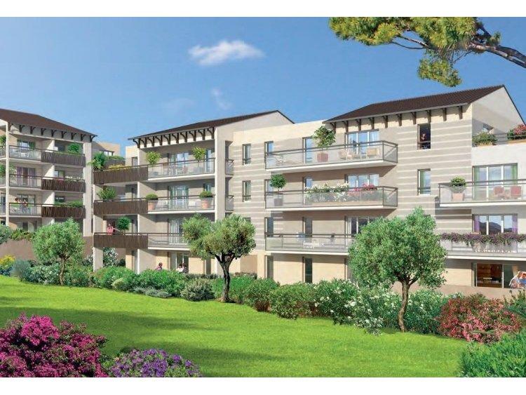 306 logements neufs de Kaufman & Broad à Carros, avec 83 % de des déchets de chantier valorisés. © Village Saint-Pierre / Carros / Kaufman & Broad