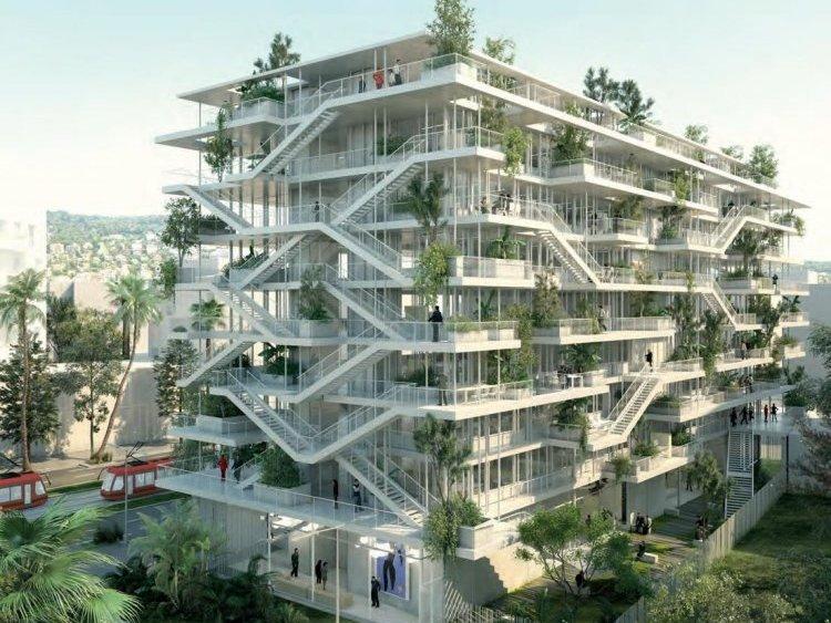 Des immeubles tertiaires comme le projet de Nexity Ywood en bois ou l'immeuble de bureau Anis de Pitch Promotion. © Anis / Nice / Pitch Promotion